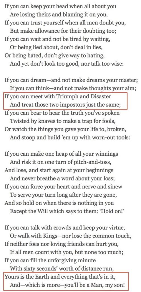 If, by Rudyard Kipling